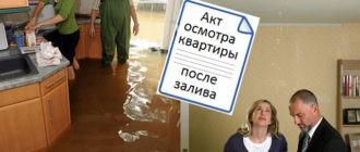 Акт осмотра квартиры после затопления